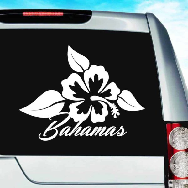 Bahamas Hibiscus Flower Vinyl Car Window Decal Sticker