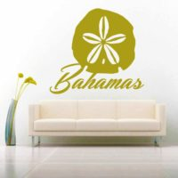 Bahamas Sand Dollar Vinyl Wall Decal Sticker