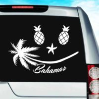 Bahamas Tropical Smiley Face Vinyl Car Window Decal Sticker