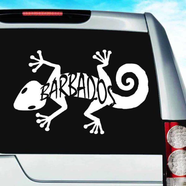 Barbados Lizard Vinyl Car Window Decal Sticker