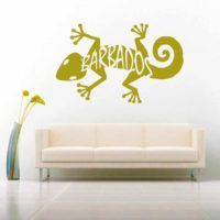 Barbados Lizard Vinyl Wall Decal Sticker