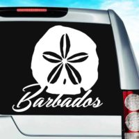 Barbados Sand Dollar Vinyl Car Window Decal Sticker