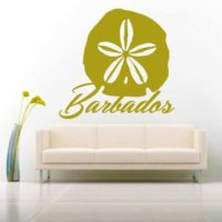 Barbados Sand Dollar Vinyl Wall Decal Sticker