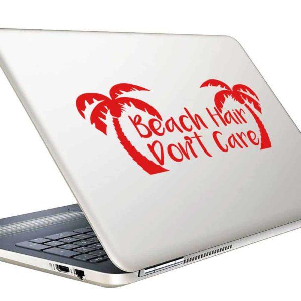 Beach Hair Dont Care Palm Trees Vinyl Laptop Macbook Decal Sticker