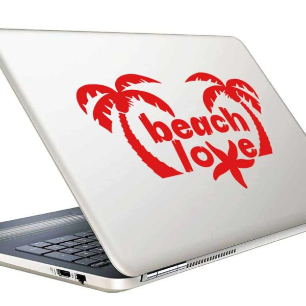 Beach Love Sea Star Vinyl Laptop Macbook Decal Sticker