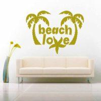 Beach Love Sea Star Vinyl Wall Decal Sticker
