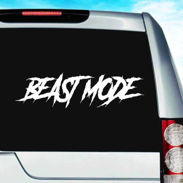 Beast Mode Vinyl Car Window Decal Sticker