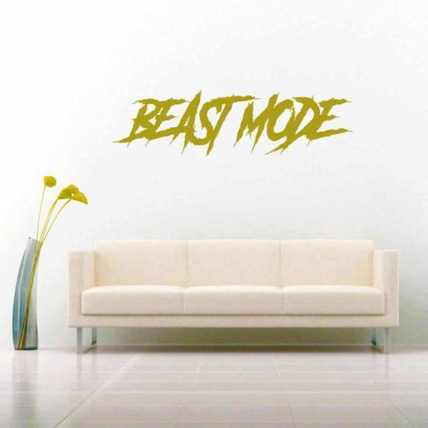 Beast Mode Vinyl Wall Decal Sticker