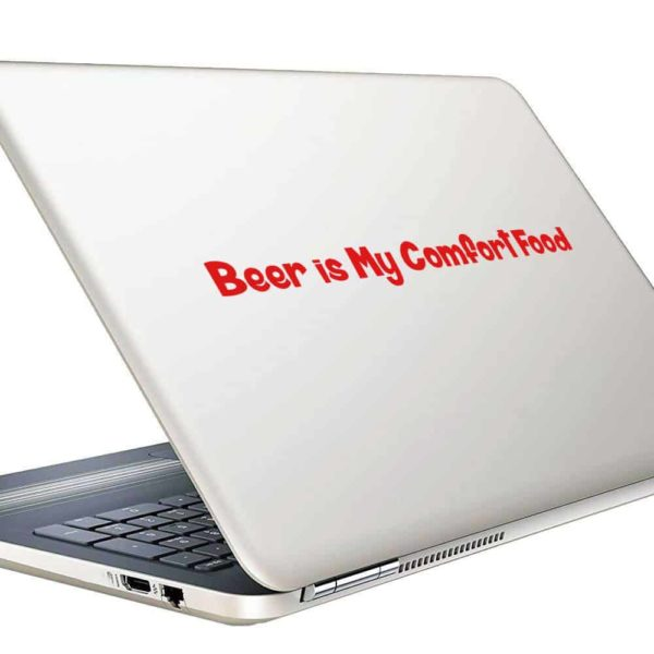 Beer Is My Comfort Food Vinyl Laptop Macbook Decal Sticker