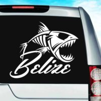 Belize Fish Skeleton Vinyl Car Window Decal Sticker