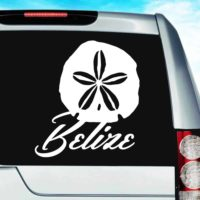 Belize Sand Dollar Vinyl Car Window Decal Sticker