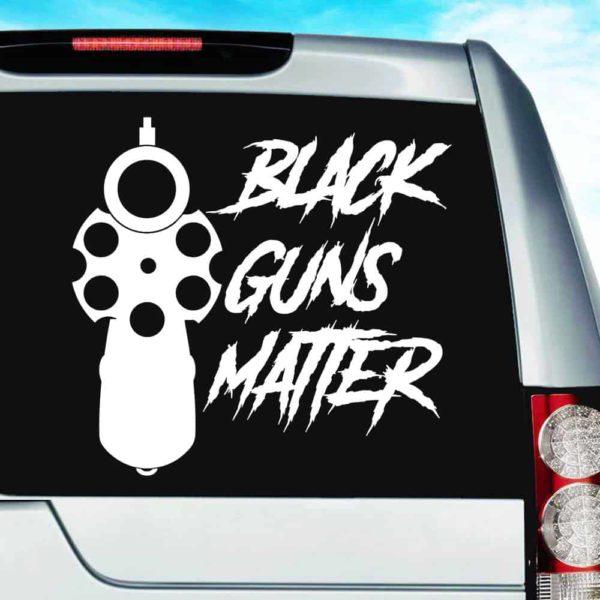 Black Guns Matter Pistol Vinyl Car Window Decal Sticker