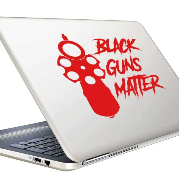 Black Guns Matter Pistol Vinyl Laptop Macbook Decal Sticker