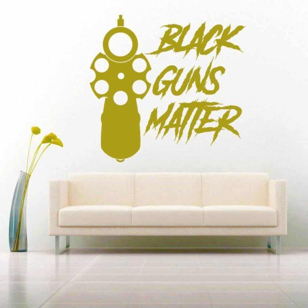 Black Guns Matter Pistol Vinyl Wall Decal Sticker