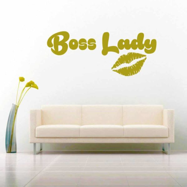 Boss Lady Lips Vinyl Wall Decal Sticker