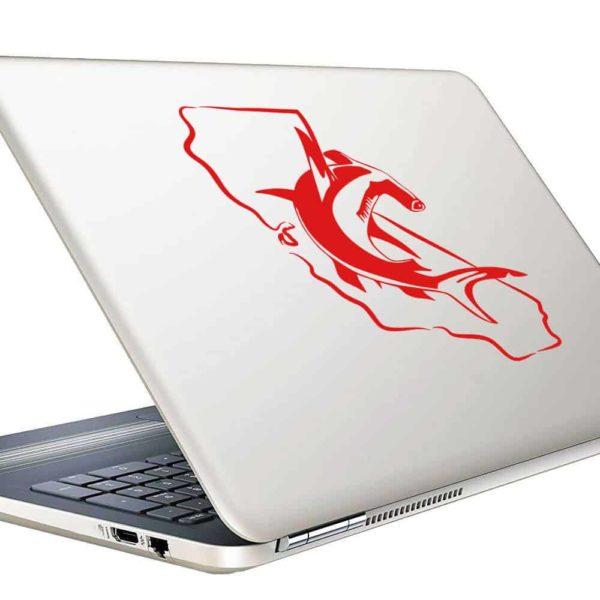 California Hammerhead Shark Vinyl Laptop Macbook Decal Sticker