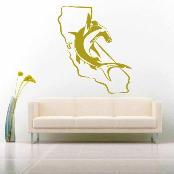 California Hammerhead Shark Vinyl Wall Decal Sticker