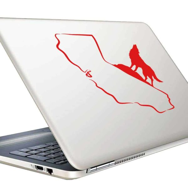 California Howling Wolf Vinyl Laptop Macbook Decal Sticker