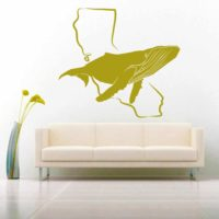 California Humpback Whale Vinyl Wall Decal Sticker