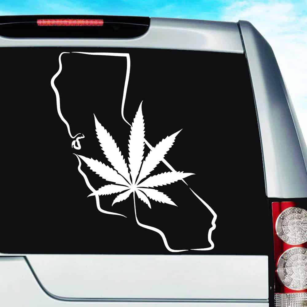 High Pot Leaf Vinyl Car Window Laptop Bumper Sticker Decal