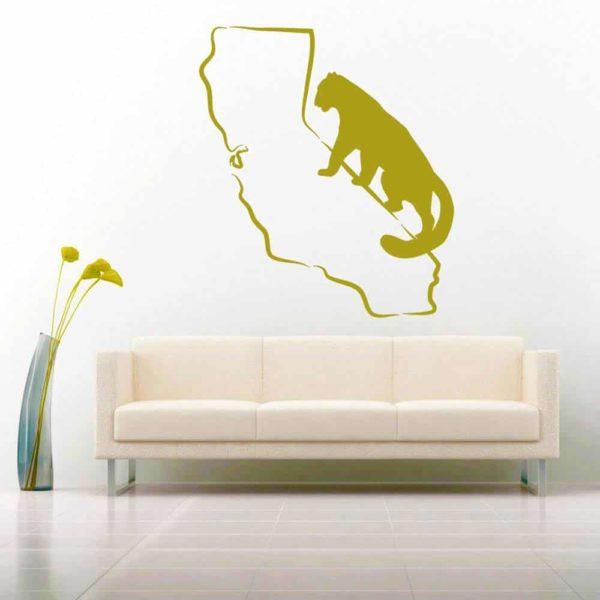 California Mountainlion Vinyl Wall Decal Sticker