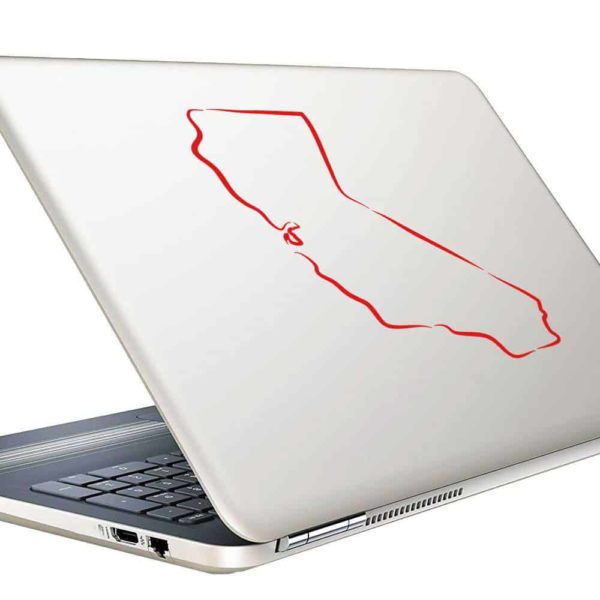 California Outline Vinyl Laptop Macbook Decal Sticker