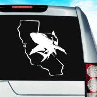 California Shark Vinyl Car Window Decal Sticker