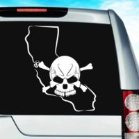 California Skull Vinyl Car Window Decal Sticker