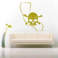California Skull Vinyl Wall Decal Sticker