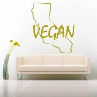 California Vegan Vinyl Wall Decal Sticker