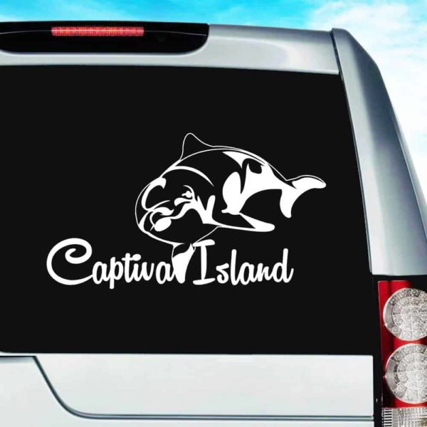 Captiva Island Dolphin Vinyl Car Window Decal Sticker