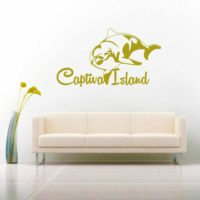 Captiva Island Dolphin Vinyl Wall Decal Sticker