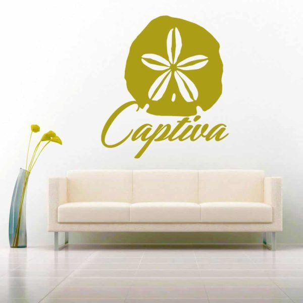 Captiva Island Florida Sand Dollar Vinyl Wall Decal Sticker