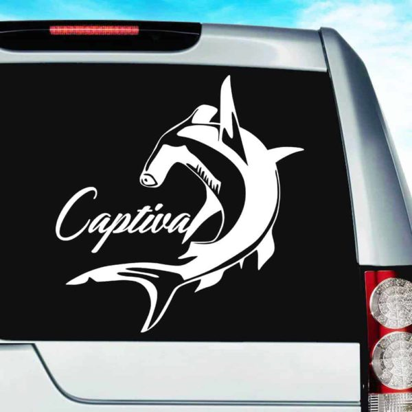 Captiva Island Hammerhead Shark Vinyl Car Window Decal Sticker