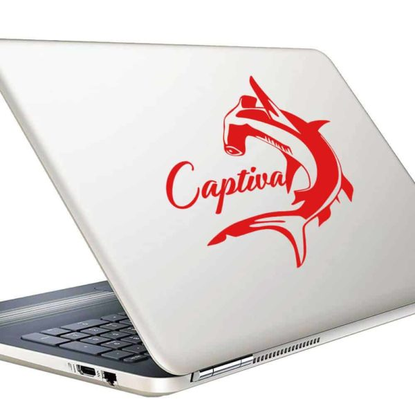 Captiva Island Hammerhead Shark Vinyl Laptop Macbook Decal Sticker