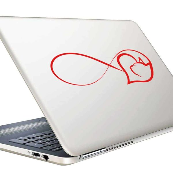 Cat Heart Inifinity Vinyl Laptop Macbook Decal Sticker