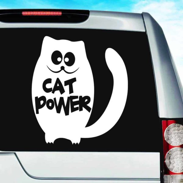 Cat Power Vinyl Car Window Decal Sticker