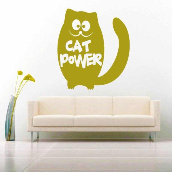 Cat Power Vinyl Wall Decal Sticker
