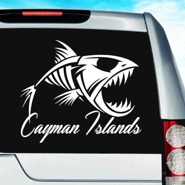 Cayman Islands Fish Skeleton Vinyl Car Window Decal Sticker