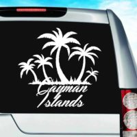 Cayman Islands Palm Tree Island Vinyl Car Window Decal Sticker