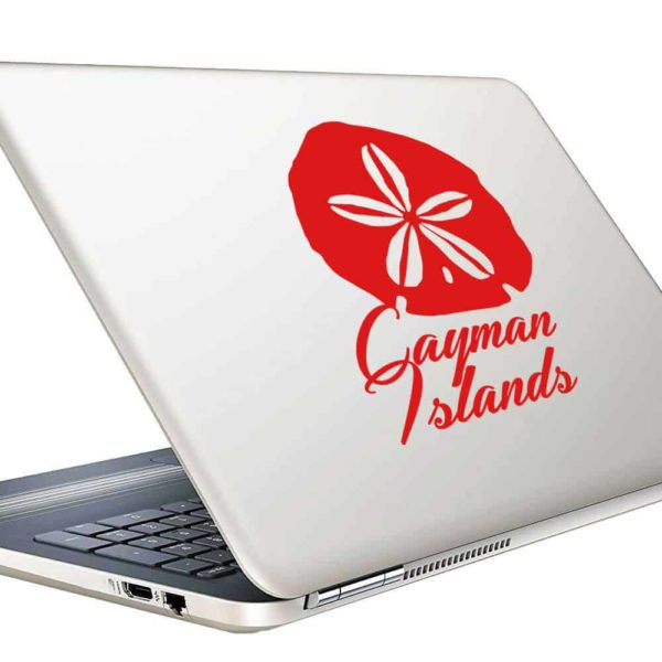 Cayman Islands Sand Dollar Vinyl Laptop Macbook Decal Sticker
