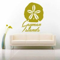 Cayman Islands Sand Dollar Vinyl Wall Decal Sticker