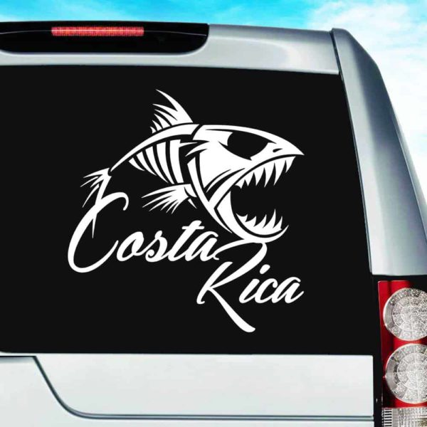 Costa Rica Fish Skeleton Vinyl Car Window Decal Sticker