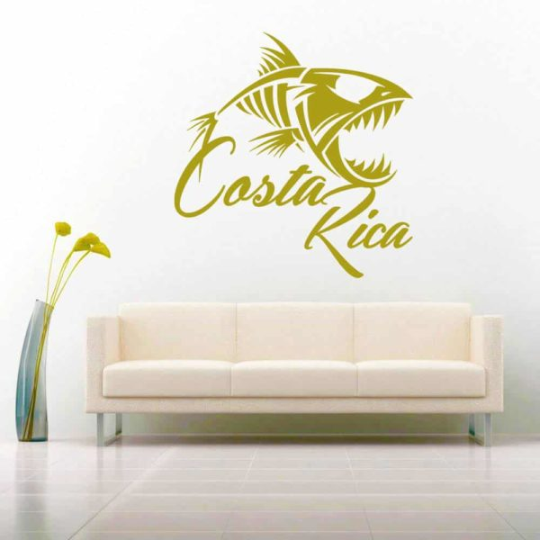 Costa Rica Fish Skeleton Vinyl Wall Decal Sticker