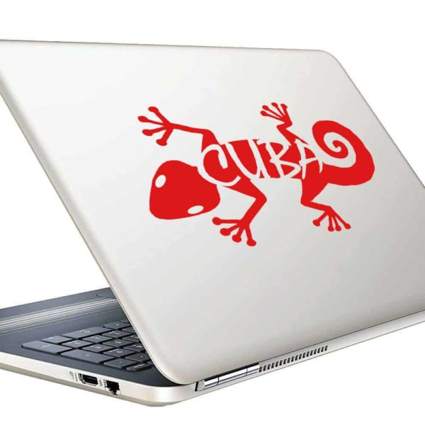 Cuba Lizard Vinyl Laptop Macbook Decal Sticker