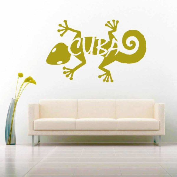 Cuba Lizard Vinyl Wall Decal Sticker
