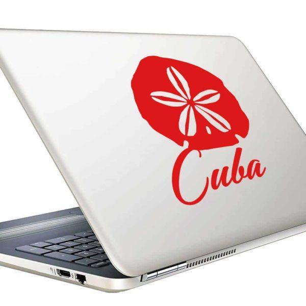 Cuba Sand Dollar Vinyl Laptop Macbook Decal Sticker