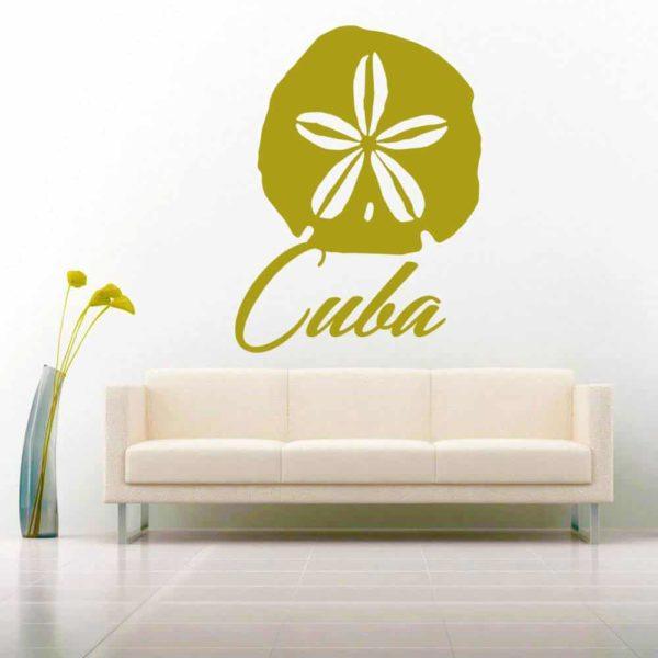 Cuba Sand Dollar Vinyl Wall Decal Sticker