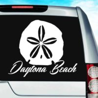 Daytona Beach Sand Dollar Vinyl Car Window Decal Sticker
