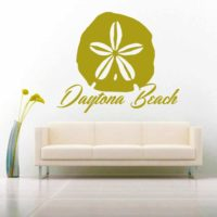 Daytona Beach Sand Dollar Vinyl Wall Decal Sticker